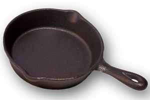 Cast iron is the original non-stick cookware.