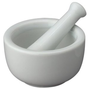 Designed to last a lifetime or longer, a mortar and pestle is essential for grinding seasonings.