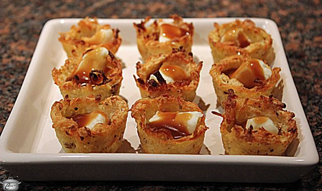 These crispy latke-like nests can be used to hold many kinds of fillings. Poutine is one of my favourites!