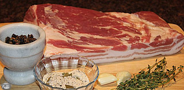 It's amazingly simple to cure pork belly to make your own fabulous bacon. Trust me on this.