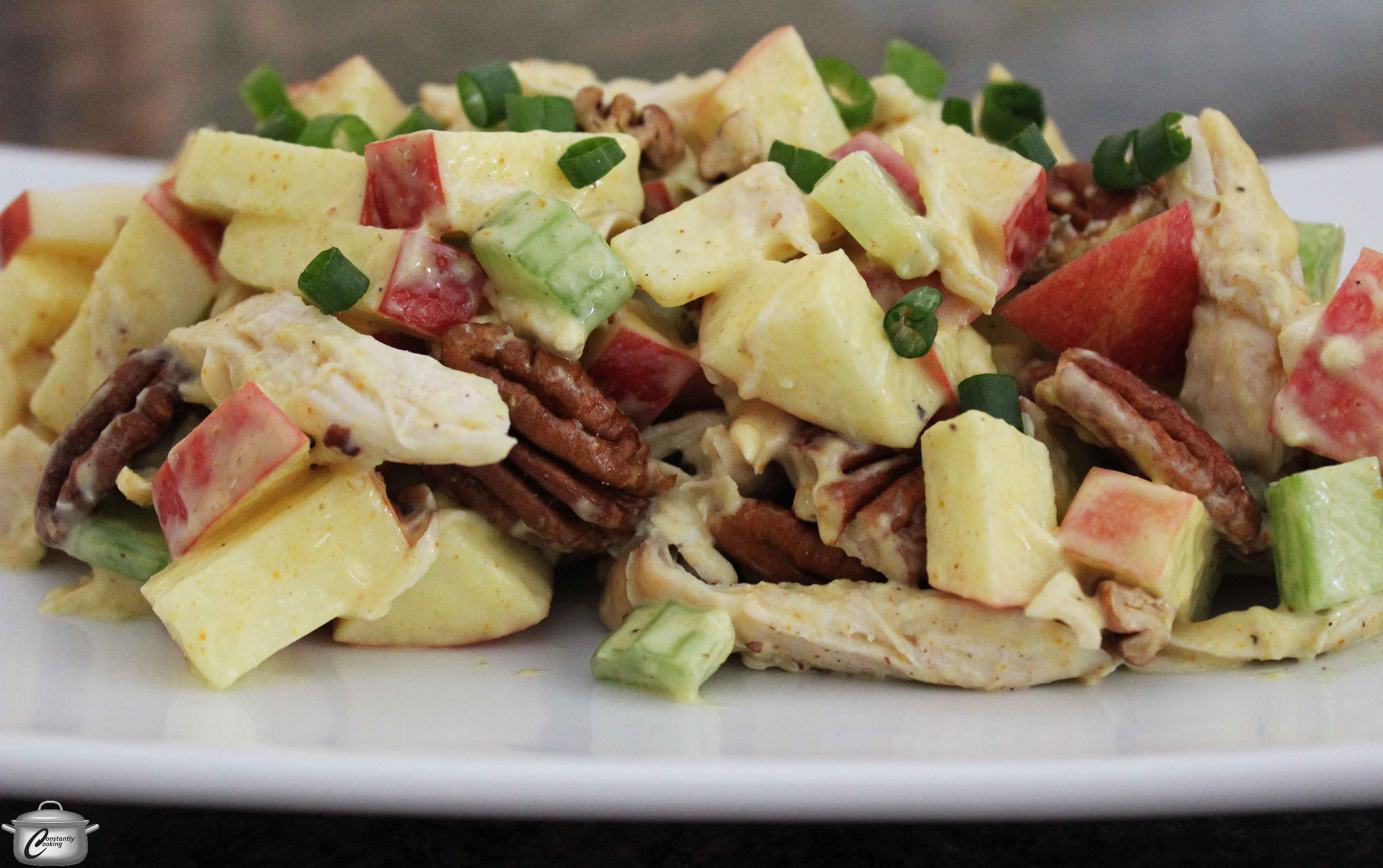 ... celery and pecans give this chicken salad loads of crunch and flavour