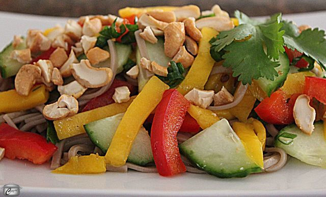 This salad is as delicious as it is colourful. It's great on its own or as an accompaniment to grilled fish or chicken.