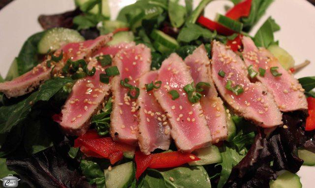 Asian Salad with Seared Ahi Tuna
