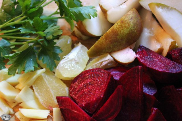 With any batch of juice, it's easiest to prepare (wash and chop as needed) all your ingredients before you begin juicing.