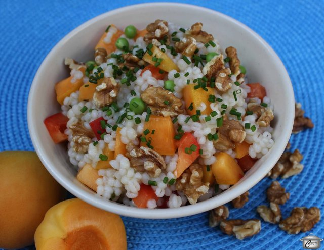 Nutritious barley is the perfect base for apricots, walnuts and a bright, citrus dressing. It's a salad that is so delicious you might forget how healthy it is!