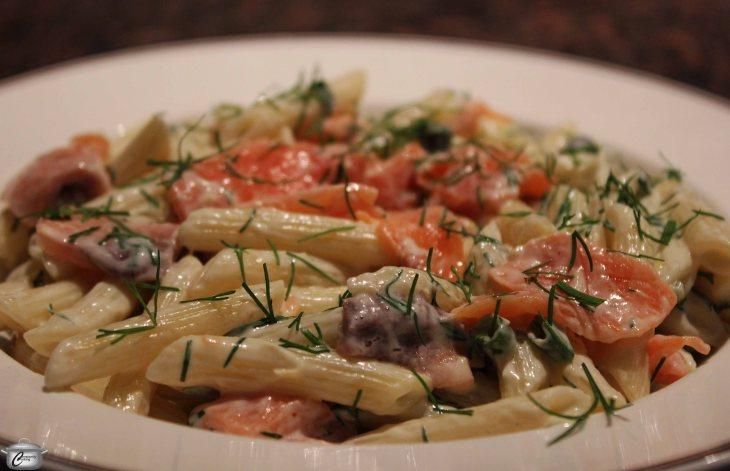 smoked salmon pasta