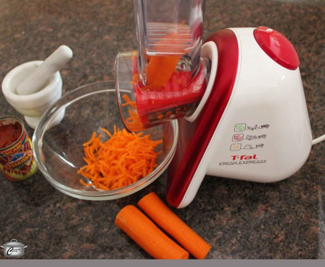 I'm not usually much of a gadget girl but I am really enjoying testing out this electric grater by T-fal. Called the Fresh Express it makes quick work out of grating, slicing, shredding and more, plus it's ridiculously easy to clean.