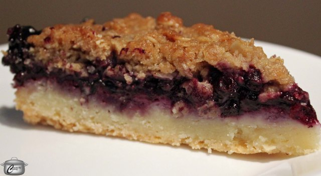 The shortbread crust and crumble topping work so well with the not-too-sweet blueberry filling. This tart keeps fresh for days without getting soggy!