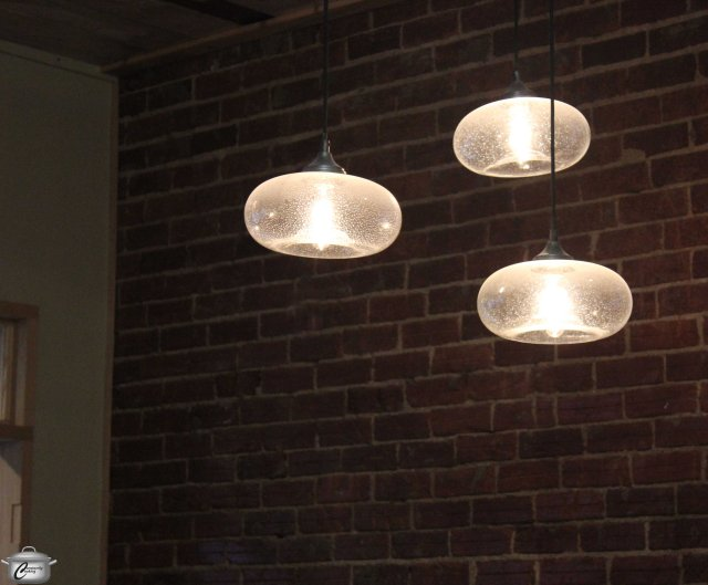 Pretty lights add charm to the eclectic decor of The Flying Banzini