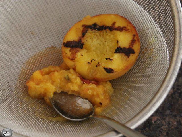 Grilled Peach Bellini process