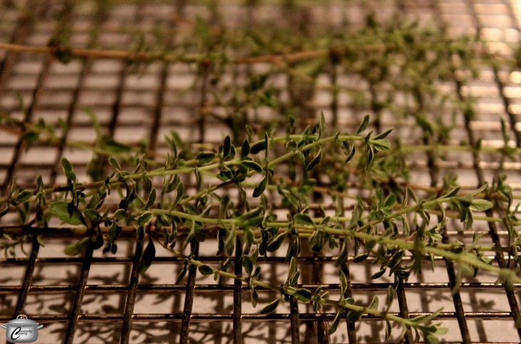 Oven-drying freshly harvested thyme captures a lot of its flavour, and makes your kitchen smell wonderful in the process!