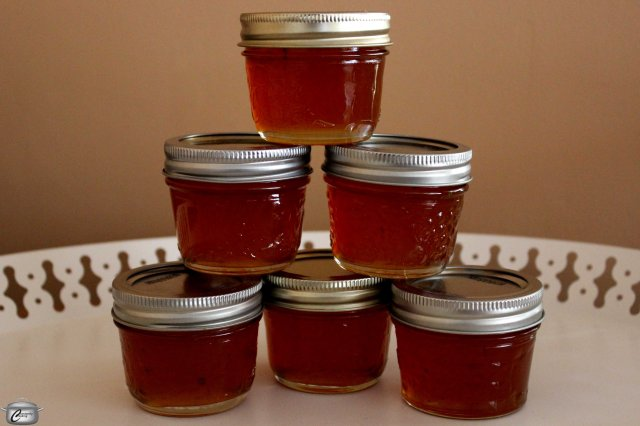 Caramelized sugar and sweet apple cider make a truly delicious jelly great for toast, scones or cheese plates.