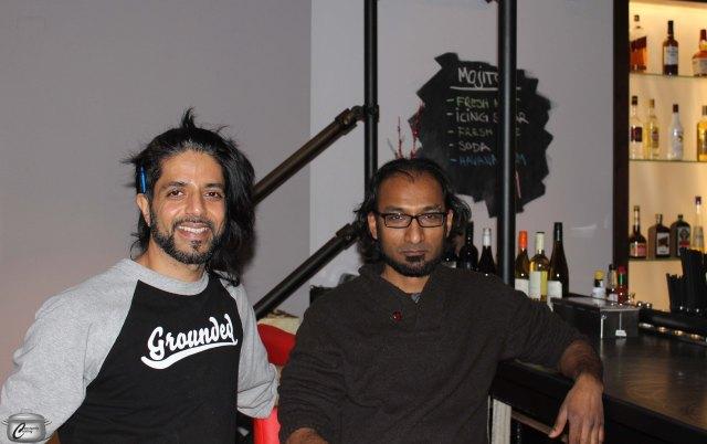 Backdrop's co-owner Amir Rahim with designer  Venk Prabhu.