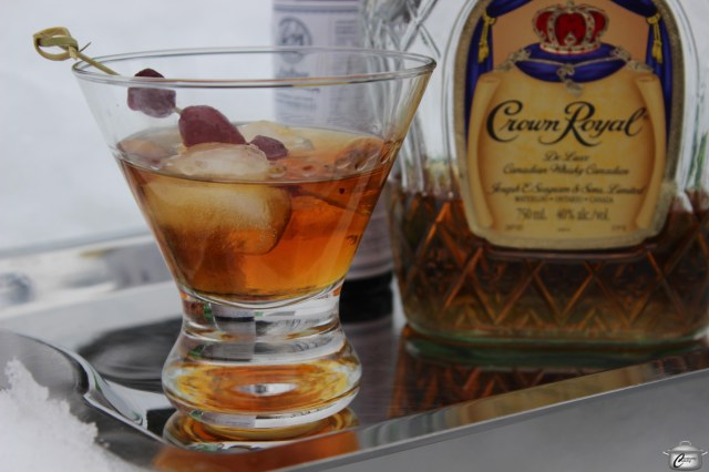 Canadian whiskey, maple syrup, vermouth and bitters make this cocktail perfect for a cold winter's eve.