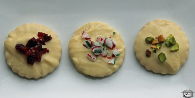 Jazz up the classic shortbread with white chocolate and a variety of toppings.