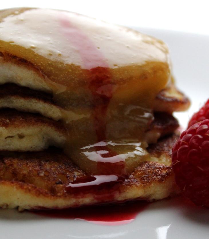 Lemon Oat Ricotta Pancakes