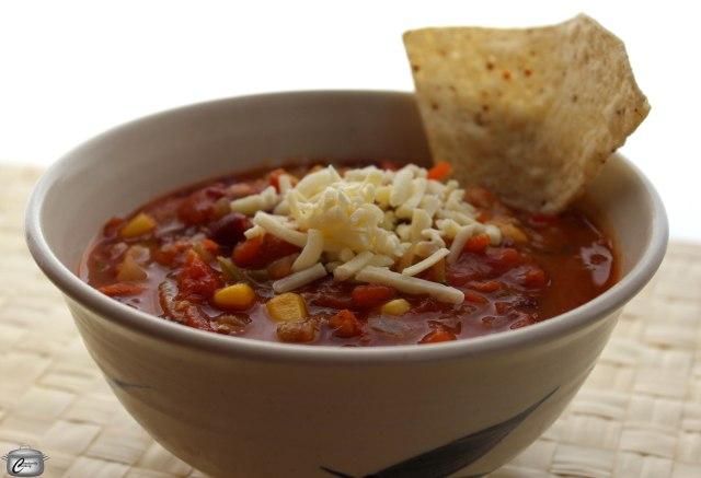 This tasty, hearty chili is so packed with flavour people might not realize it's vegetarian!