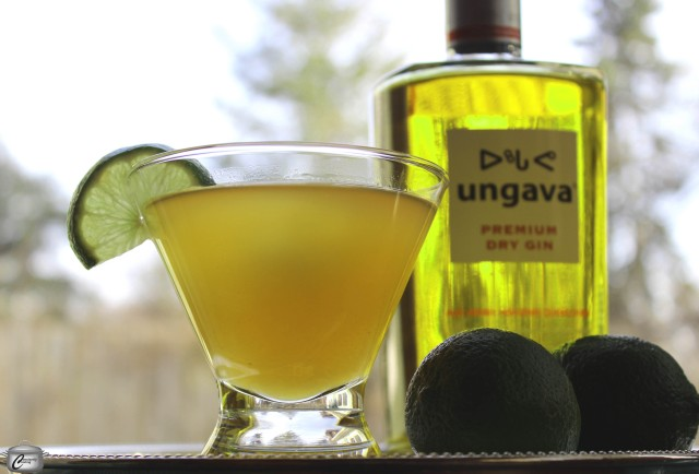 This gimlet is composed of fresh lime juice and maple syrup combined with premium gin.