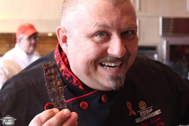 "Steph ""The Grilling Gourmet"" is once again the spokesperson for A Taste For Life. Here, he shows off some of his marvelous candied bacon."
