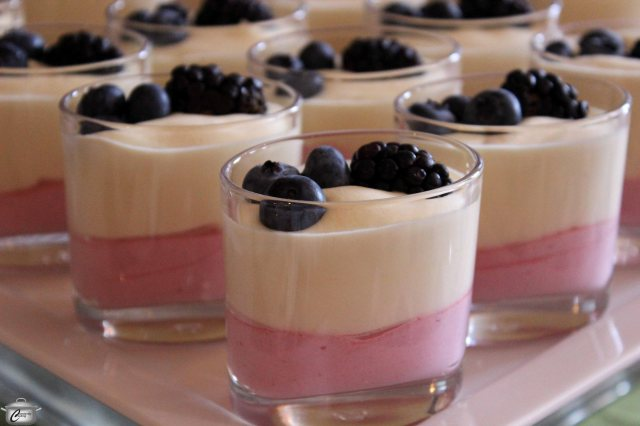 Sheila Whyte of Thyme & Again Creative Catering was on hand to serve yummy berry and passionfruit mousse parfaits.