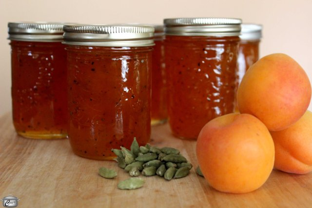 Fresh apricots and ground cardamom make for a most delicious, uniquely-flavoured jam.