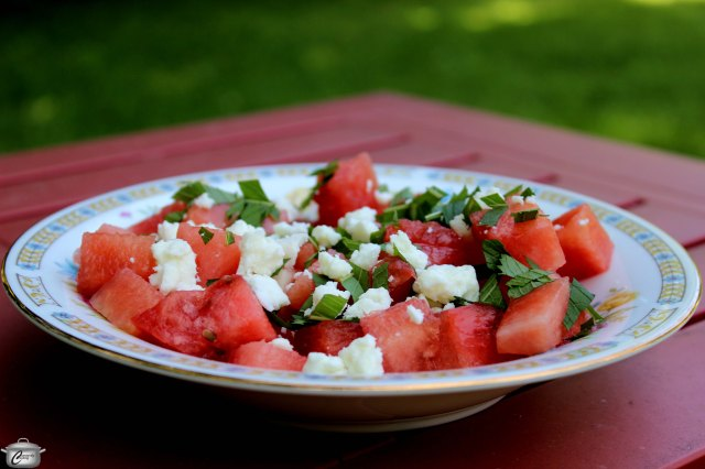 Infusing watermelon with smoke gives this salad a huge flavour pop that will intrigue and impress your guests.