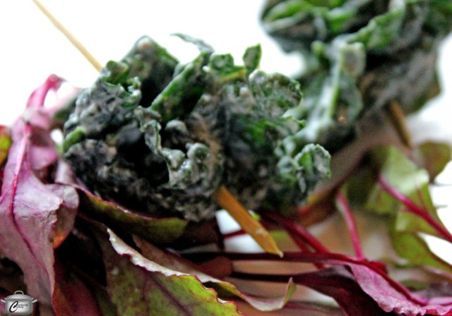 Teatro's kale on a stick was an inventive and tasty dish.