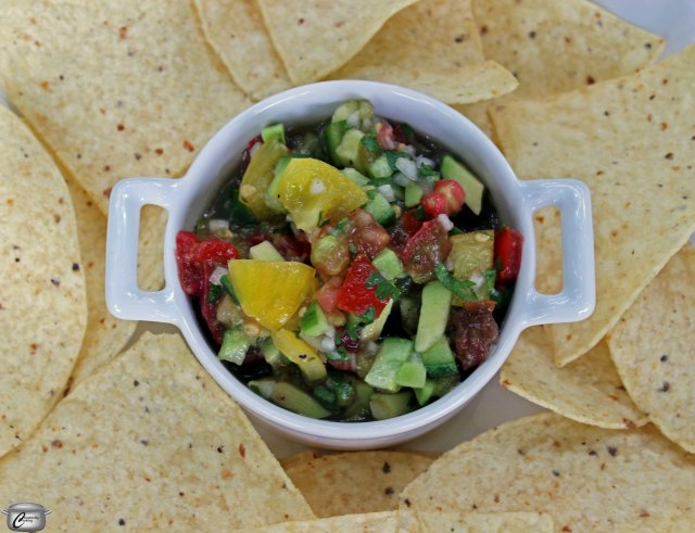 Salsa is terrific with tortilla chips but also great as a condiment for grilled chicken or fish.
