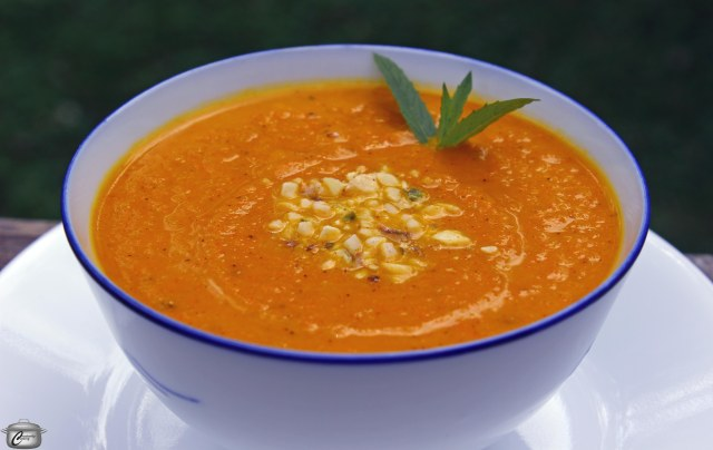 This brightly coloured soup is simple to make and packed with flavour, thanks to the exotic and appealing ras el hanout spice blend.