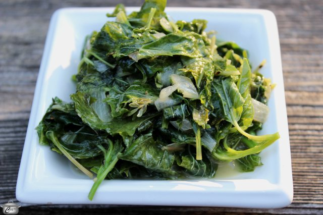 Callaloo leaves (from the taro plant or dasheen bush) are absolutely delicious when sauteed in butter with onion and thyme.
