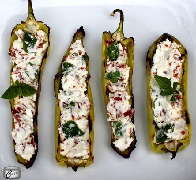 These grilled, stuffed banana peppers are easy to make and super tasty!