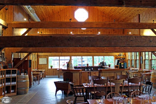 The Grange's beautiful almost-200 year old barn is an incredible setting for wine tastings and other events.