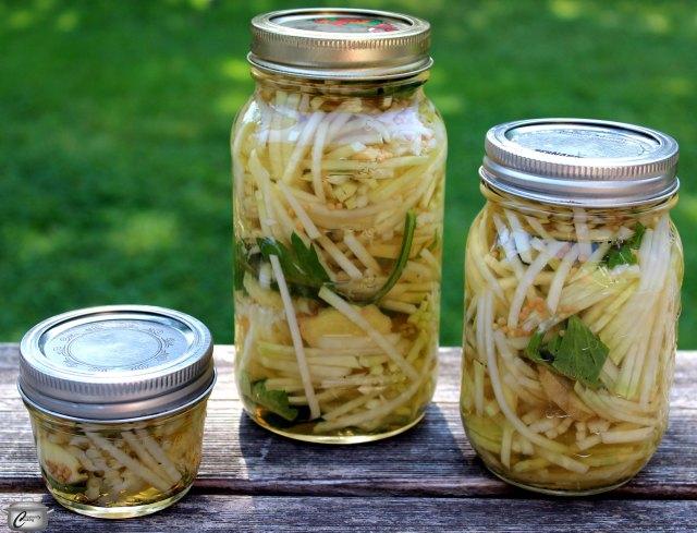 Kohlrabi's sweet taste makes it the perfect vegetable for pickling.