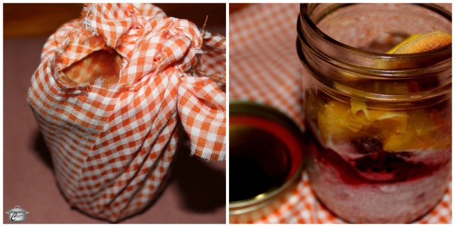 You have to love a meal where there is a pre-dessert sweet course! Stephen LaSalle served up cutely-wrapped raspberry fool in mason jars, featuring macerated raspberries, whipped cream with vanilla, peaches and sponge cake. A 2010 Brut was  a delicious accompaniment.