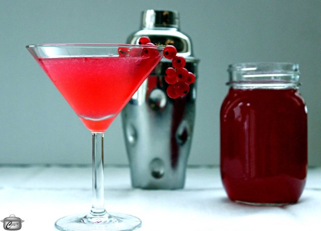 Red currant juice makes for an absolutely delicious, vibrant-hued Cosmopolitan cocktail.