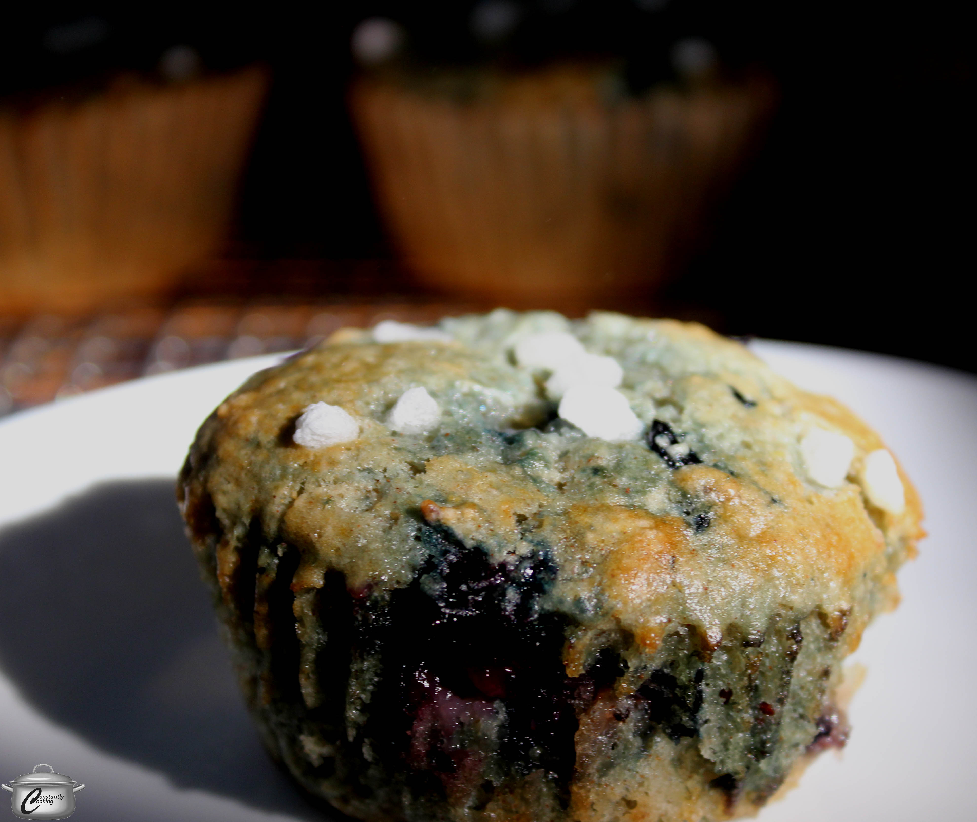 Browned Butter Blueberry Muffins | Constantly Cooking