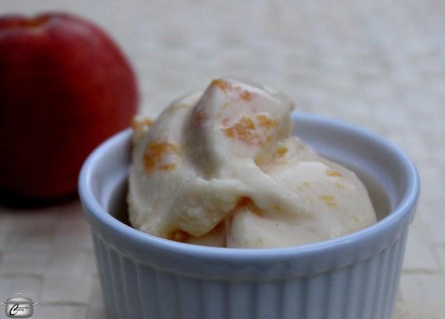 Peach almond frozen custard