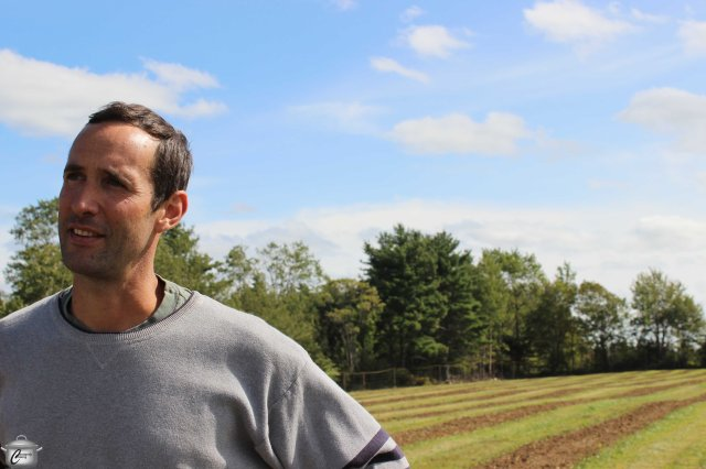 South Shore Farms' David Eisnor gave us planting instructions before we headed out to the freshly-tilled fields.