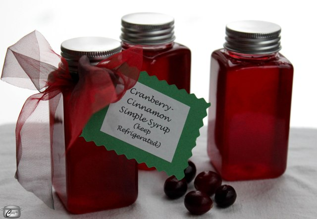 Cranberry and cinnamon are a great flavour combination for this versatile syrup, which makes a great hostess gift!