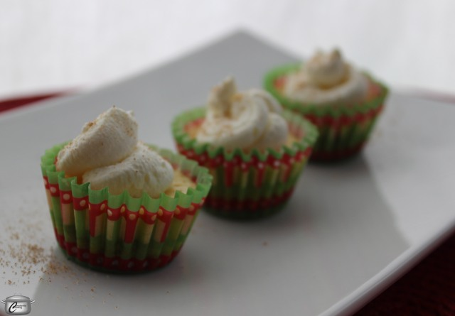 These mini eggnog cheesecakes are so flavourful you might be satisfied with just one.