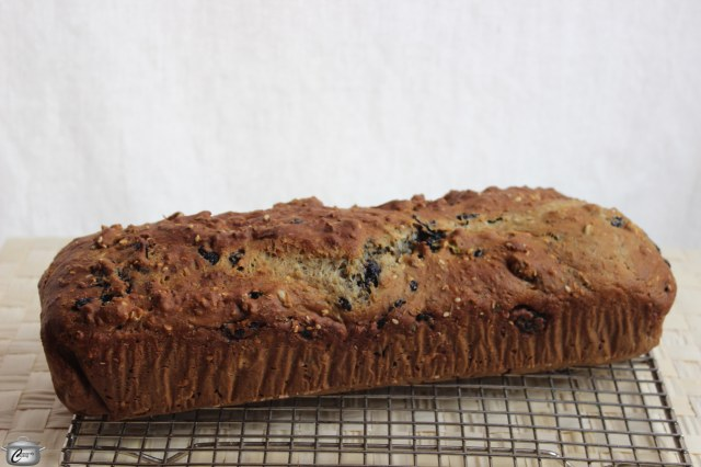 The loaf is done when golden brown and slightly springy to the touch. It will get darker after you slice and bake the crisps, similar to the process for biscotti.