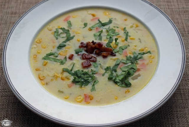 Classic corn chowder gets a tasty makeover with the addition of bacon, cilantro and lime.