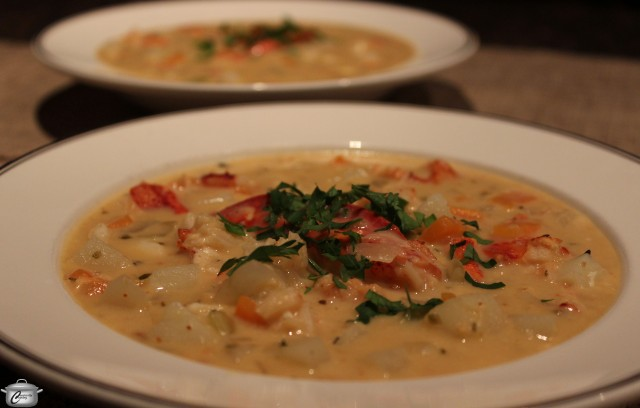 Rich and creamy, this hearty chowder is packed with seafood and vegetables.