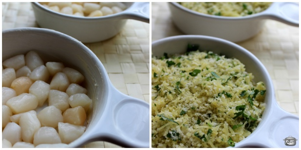 Scallops au Gratin are easy to assemble and can be quickly baked just before serving time.