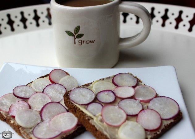 Hearty Rye bread and fresh spring radishes from the Ottawa Farmers' Market make this traditional French sandwich extra tasty.