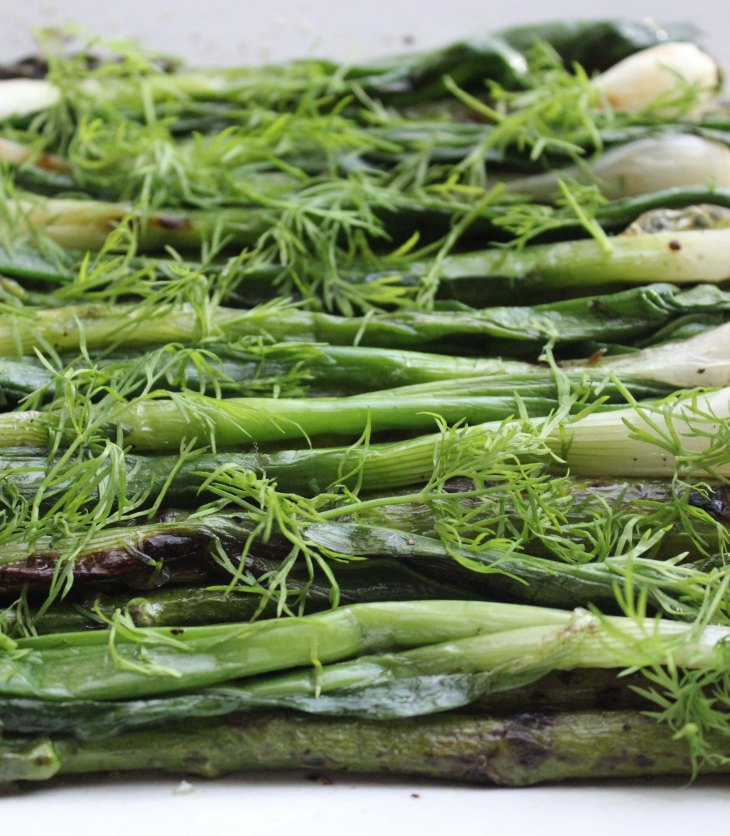 asparagus and spring onions are a perfect combination especially when grilled