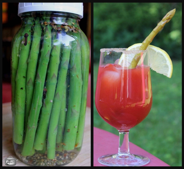 You can make quick pickles - like this zippy asparagus - just a jar at a time and they keep in the fridge for up to a month.