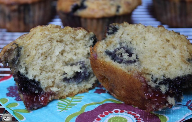 Adding multiple kinds of fruit to a favourite muffin batter makes these Berry Burst beauties extra flavourful.