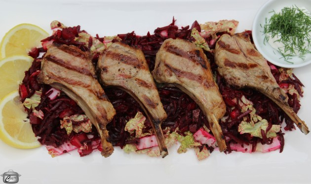 The earthy-bright flavours of Borscht translate beautifully into salad form; it's the perfect summery accompaniment to grilled lamb chops.