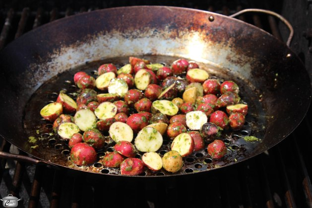 A sturdy grill pan for the barbeque is a 'must have' tool - it makes grilling vegetables and small pieces of seafood so much easier.